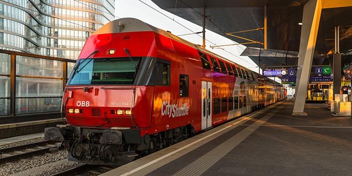 Vienna to Bratislava by train