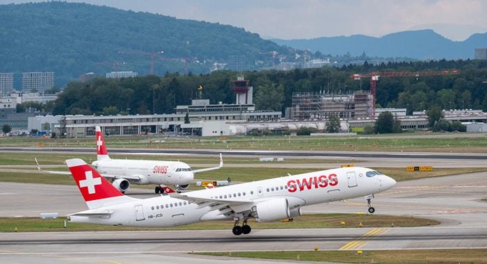 Z Zurychu do Genewy samolotem