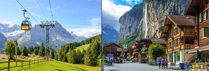 Zurich to Interlaken by organised tour