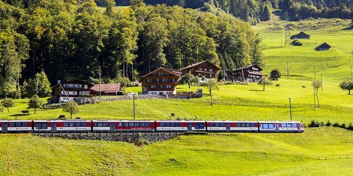 Zurich to Interlaken by train