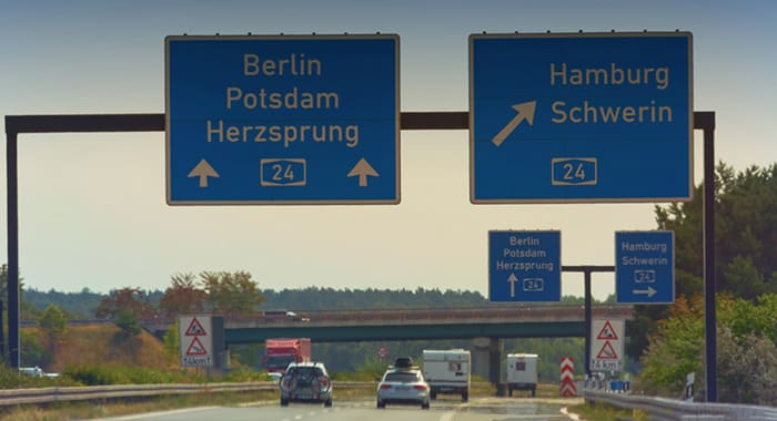 Hamburg to Berlin by car