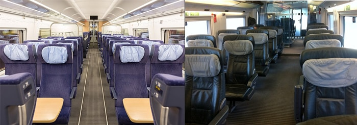 ICE train seating