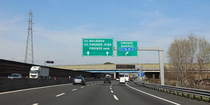 Milan to Florence by car