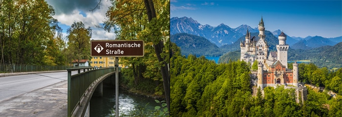 Romantic road and Neuschwanstein-castle