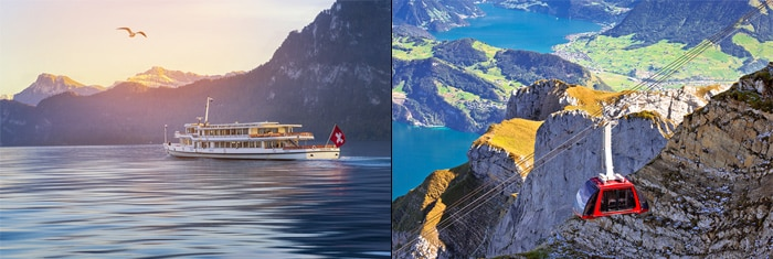 Zurich to Lucerne by organised tour