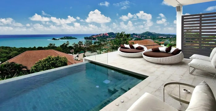 Rapha海景别墅,带泳池,沙滩