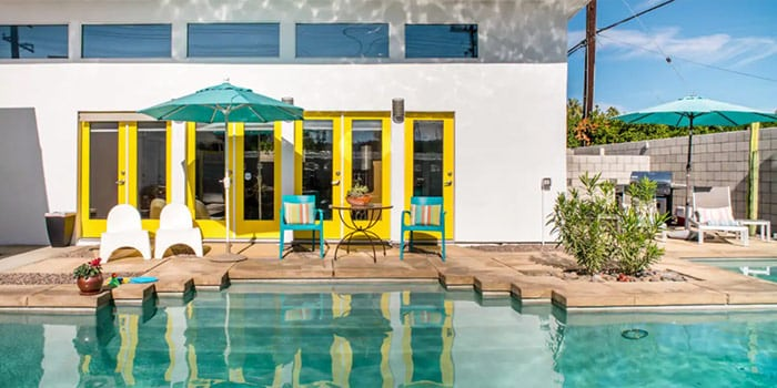 Relax Poolside at a Colorful Oasis